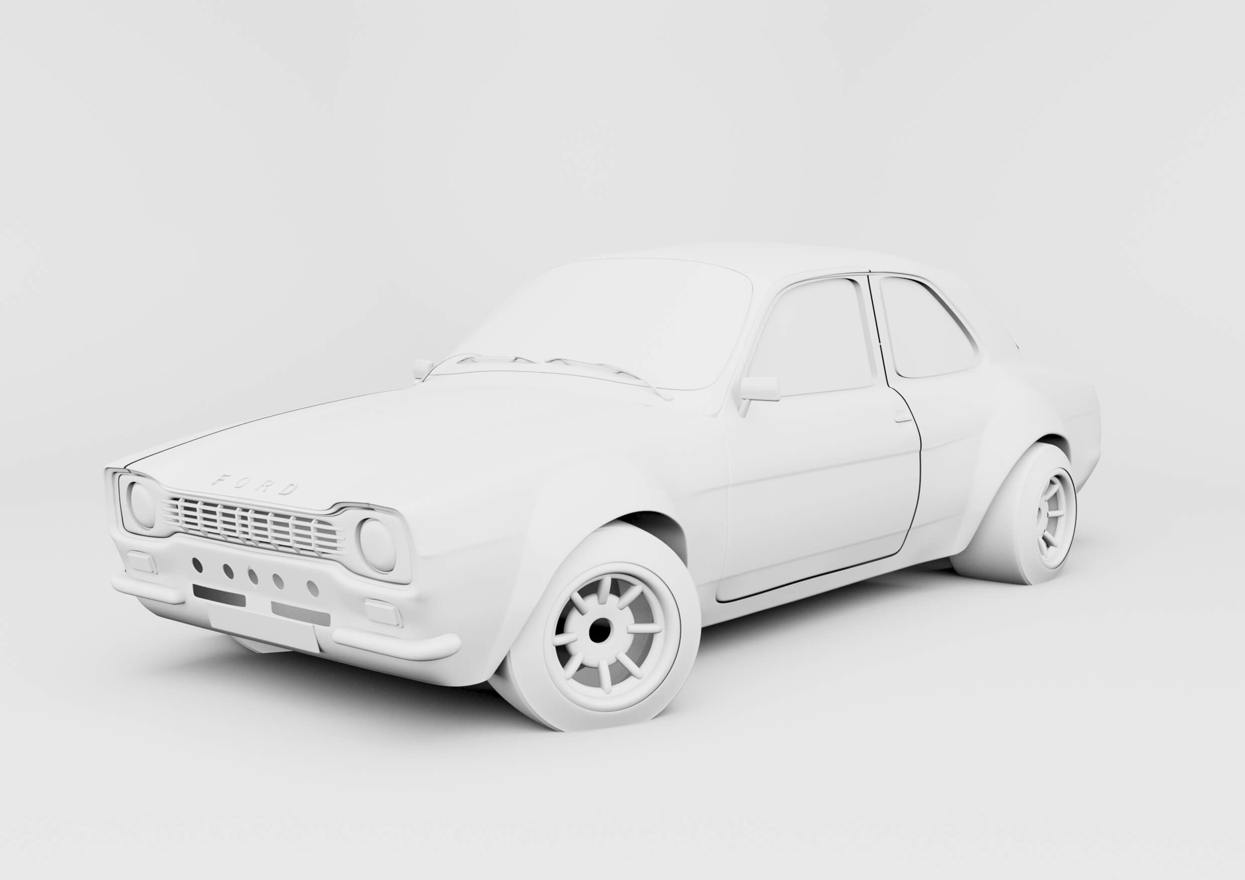 Ford Escort Ambient Occlusion