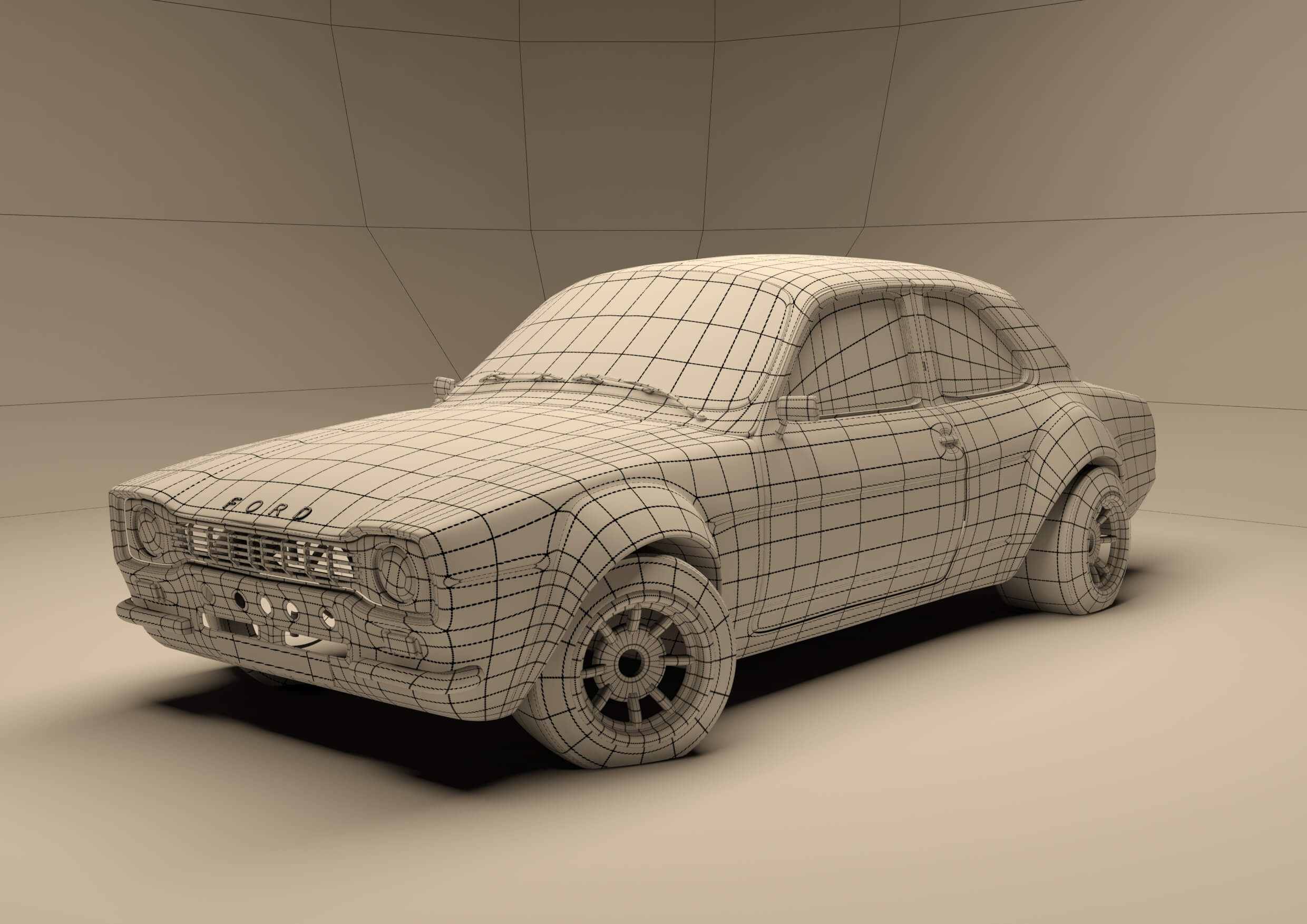 Ford Escort Wireframe